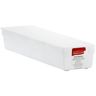 "Rubbermaid 2912-RD WHT Drawer Organizer, 12""W x 3""H, White"