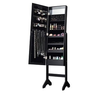 Link to Mirrored Jewelry Cabinet Armoire Organizer w/ LED lights Similar Items in Bedroom Furniture