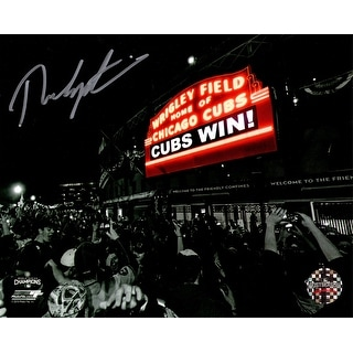 Theo Epstein Chicago Cubs Wrigley Field Marquee Cubs Win Spotlight 8x10 Photo