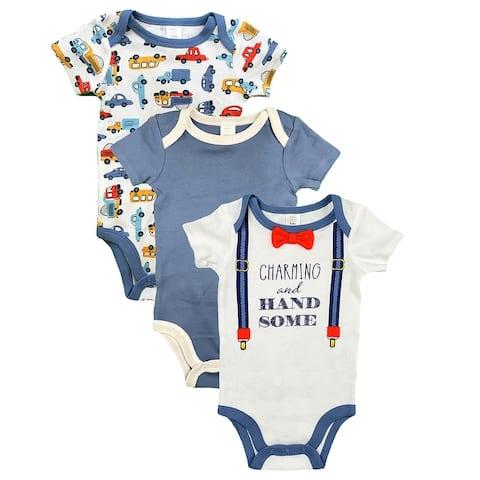 Modern Baby Onesies For Girls & Boys 3-Pack Short Sleeve Bodysuits