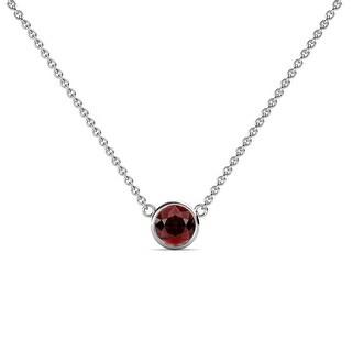Link to TriJewels Gemstone Bezel Set Women Solitaire Pendant Necklace 14K Gold Similar Items in Necklaces