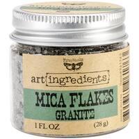 Finnabair Art Ingredients Mica Flakes 1oz-Granite - gray