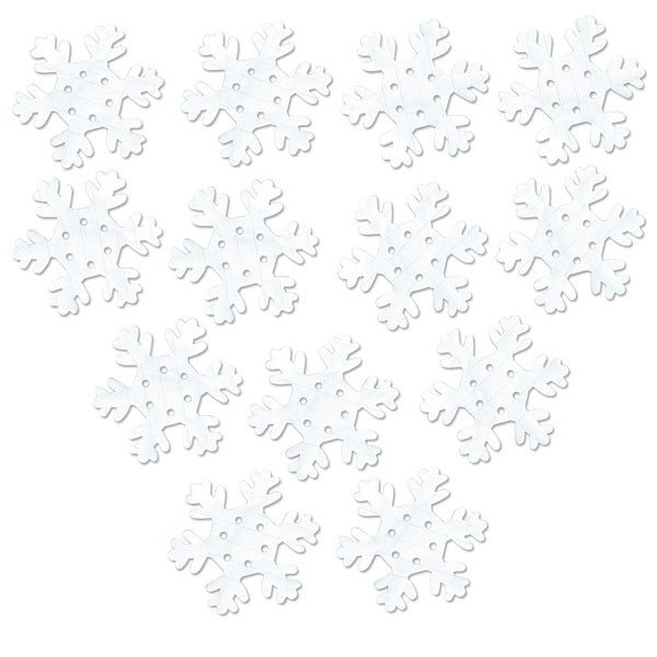 Club Pack of 600 Winter Wonderland Themed White Tissue Snowflake Cutout Decorations 5.25""