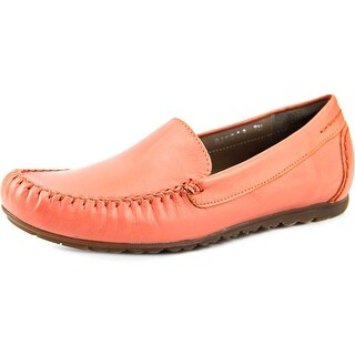 Rose Petals by Walking Cradles Eagle Women N/S Moc Toe Leather Pink Loafer