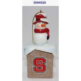 """3.5"""" White Snowman and Red Scarf Design Christmas Ornament"""