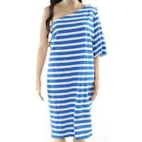 Lauren By Ralph Lauren Blue Women's Size Large L Stripe Dress