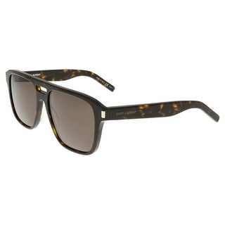 Saint Laurent SL 87-004 Havana Aviator Sunglasses
