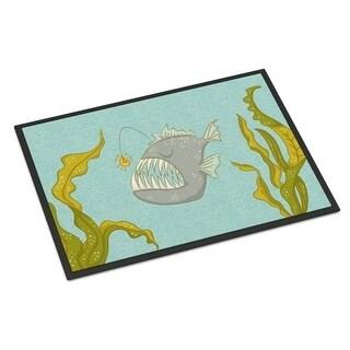 Carolines Treasures BB8541JMAT Frog Fish Indoor Or Outdoor Mat - 24 x 36 in.