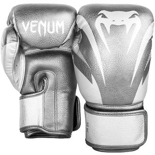Venum Impact Hook and Loop Sparring Boxing Gloves - Silver/Silver