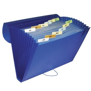 C-Line 13 Pocket Poly Expanding File, 8-1/2 x 11 Inches, Various Colors