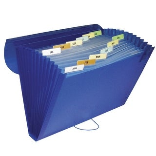 C-Line Polypropylene Expanding File, 13 Pocket, Letter Size, Colors Vary