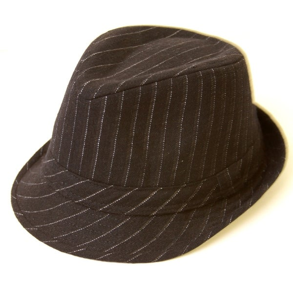 864b6f9fdc Shop Pinstripe Fedora Hat - Free Shipping On Orders Over  45 -  Overstock.com - 20669893