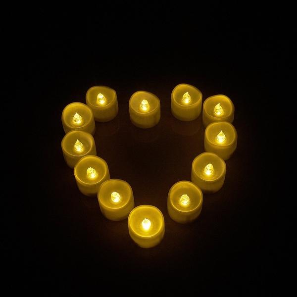 16pcs LED Tealights Candles Wavy Top Style Tea Light Warm White