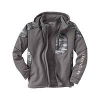 Legendary Whitetails Men's Splitshot Hooded Softshell Jacket - Tornado Gray