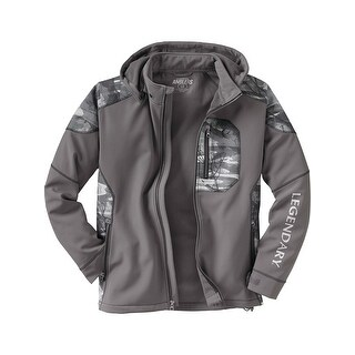 Legendary Whitetails Men's Splitshot Hooded Softshell Jacket - tornado gray