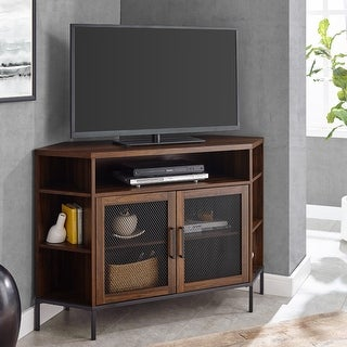 "Link to The Gray Barn Kujawa 48"" Mesh Door Corner TV Console Similar Items in TV Stands & Entertainment Centers"