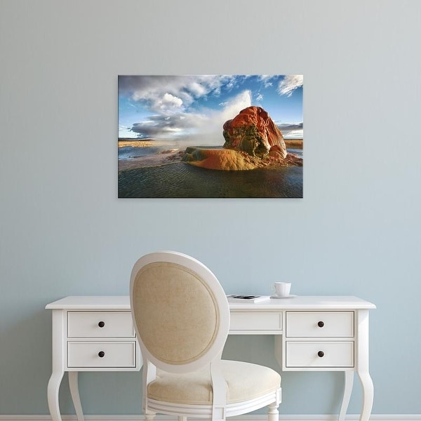 Easy Art Prints Jaynes Gallery's 'Fly Geyser At Sunrise' Premium Canvas Art