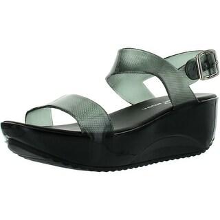 Spirit Moda Beryl-1 Women Beauty Ankle Strap Wedges Heel Jelly Sandals
