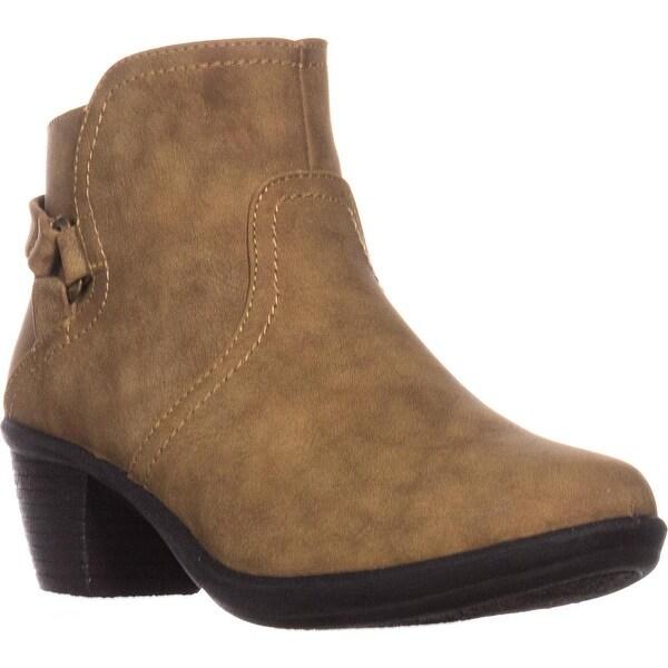 Easy Street Dawnta Side Zip Ankle Boots, Camel Matte - 6 n us