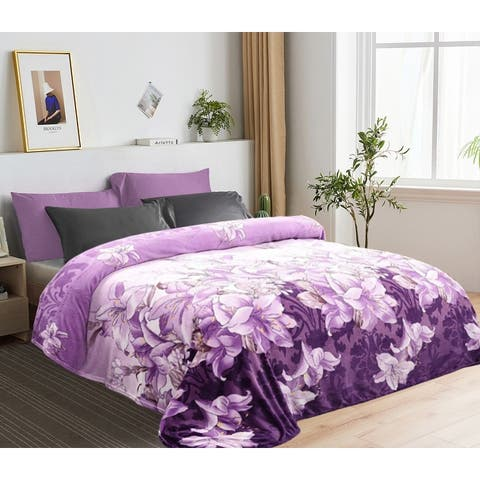 Fleece Blanket Printed Lightweight Super Soft Cozy Luxury Bed Blanket Microfiber