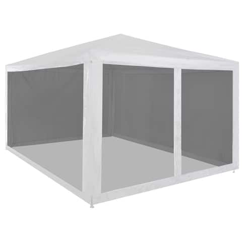 "vidaXL Party Tent with 4 Mesh Sidewalls 157.5""x118.1"""