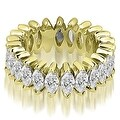 2.88 cttw. 14K Yellow Gold Marquise Diamond Eternity Ring - Thumbnail 0
