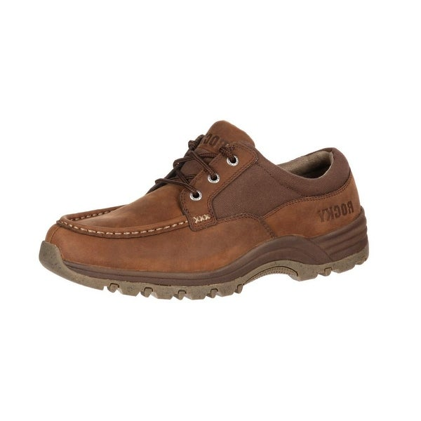 Rocky Work Shoes Mens Lakeland Oxford Leather EVA Sole Brown