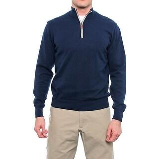 C/89Men Long Sleeve High Neck 1/2 Zip Sweater Men Regular Sweater Top