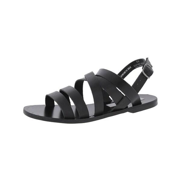 Steve Madden Womens Auuria Flat Sandals Open Toe Slingback - 6 medium (b,m)