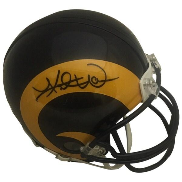 d58662fa7a2 Shop Kurt Warner Autographed St Louis Rams Signed Football Mini Helmet JSA  COA - Free Shipping Today - Overstock.com - 25762127