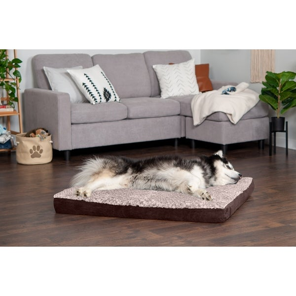 FurHaven Two-Tone Faux Fur & Suede Deluxe Orthopedic Dog Bed. Opens flyout.