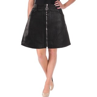 7 For All Mankind Womens Mini Skirt Coated Exposed Front Zipper - 29