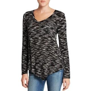 Splendid Womens Pullover Sweater Knit Asymmetric Hem