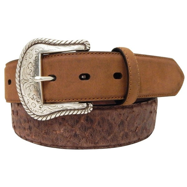 Roper Western Belt Mens Distressed Crazy Horse Brown