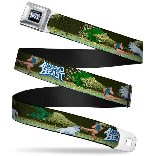 Sega Genesis Altered Beast Logo Full Color Black Blue White Altered Beast Seatbelt Belt