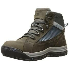 Caterpillar Womens Champ Mid Leather Slip Resistant Work Boots - 7.5 medium (b,m)