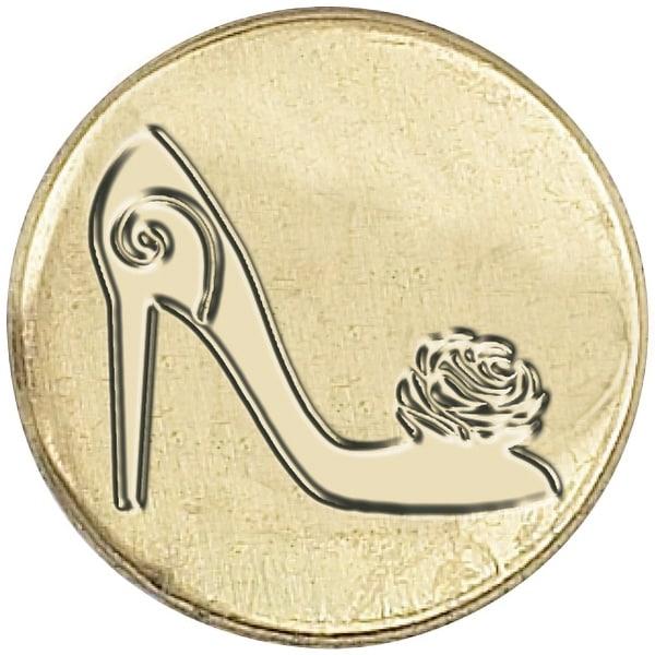 "Decorative Sealing Coin .75""-Shoe"