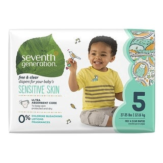 Seventh Generation Baby Diapers, Stage 5, 27+# - (Case of 4 - 23 ct)