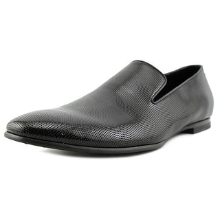 Calvin Klein Navian Men Round Toe Patent Leather Black Loafer
