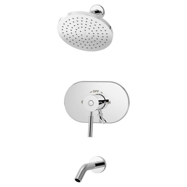 Symmons S-4302-1.5-TRM Sereno Tub and Shower Trim Package with 1.5 GPM Single Function Shower Head
