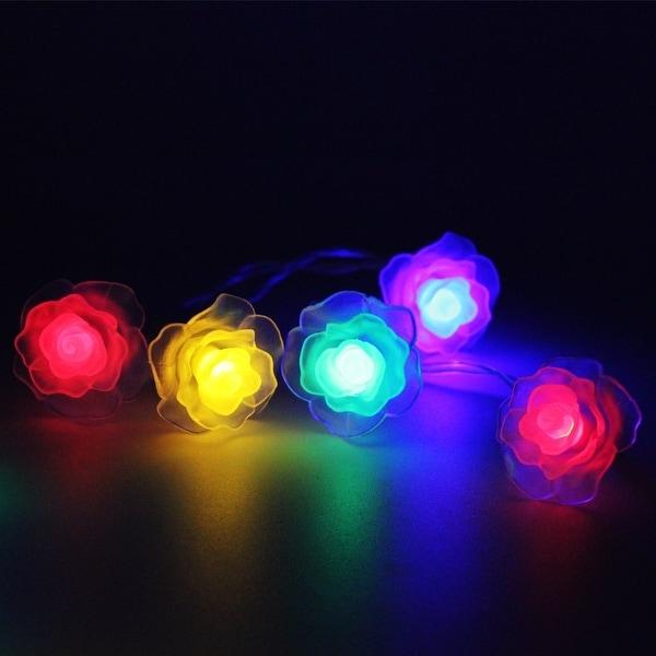 Nos Little Blue Stars Christmas Trees Lights Christmas Copper String Battery 3ft
