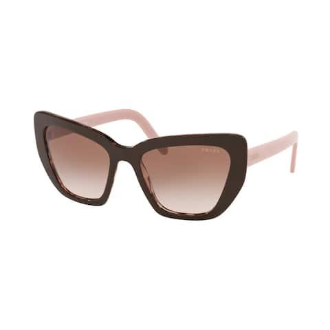 Prada PR 08VS ROL0A6 55 Brown/spotted Pink Woman Cat Eye Sunglasses