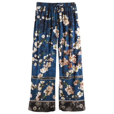 94b2785cd Women's Blossom Lounge Pants - Elastic Waist Band and Side Pockets