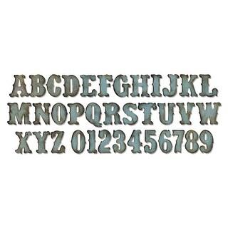 """Sizzix Bigz XL Die By Tim Holtz 6""""X13.75""""-Vintage Market Alphabet 1.25"""""""