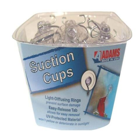 Adams 6000-74-3848 40 Large Suction Cup With Metal Hook Counter Display, 2-1/2""