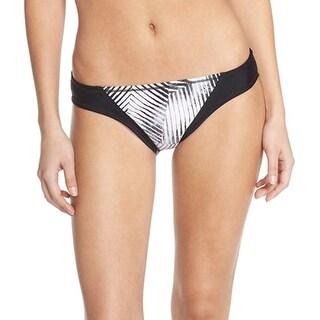 Zella NEW Black Women's Size XS Geo-Print Bikini Bottom Swimwear