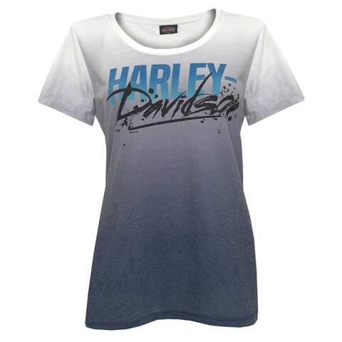 Harley-Davidson Women's Eye Opener Scoop Neck Short Sleeve Ombre Graphic Tee