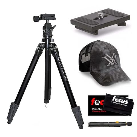 Vortex High Country Tripod with Quick Release Plate and Cap Bundle