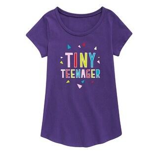 Tiny Teenager - Youth Girl Short Sleeve Curved Hem Tee