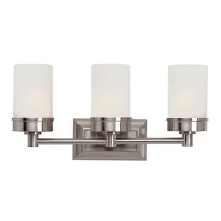 Trans Globe Lighting 70333 3 Light Bath Bar with Frosted Shade